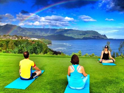 Sunrise Yoga Oceanside Princeville Makai Golf Course