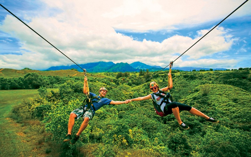 Kauai Hawaii Zipline Ziplining Adventure Tours