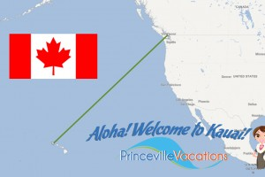 Direct flights from Canada to Kauai